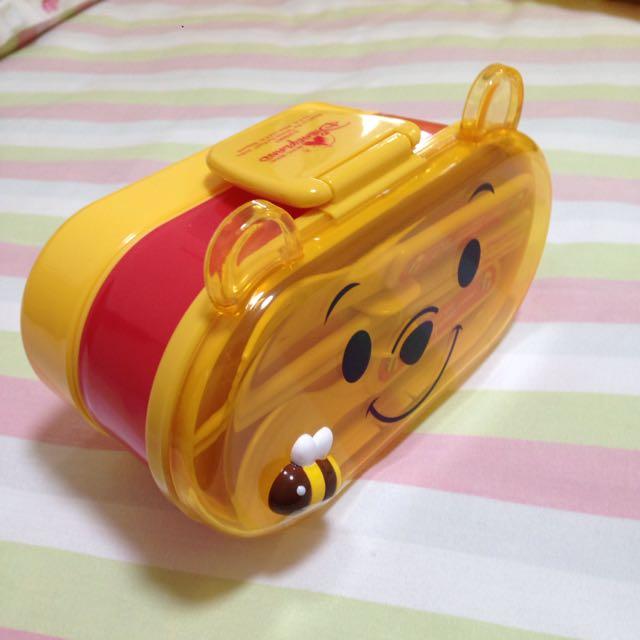 Disney正版小熊維尼餐盒全新
