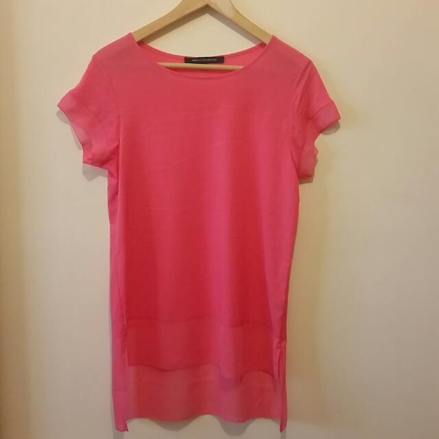 French Connection Pink Top Small Size RRP $79.95