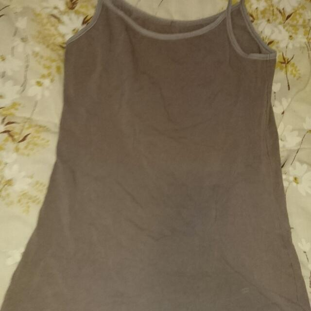 Giordano Tan/ Brown Tank Top (size small)
