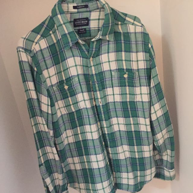 Green Lucky brand Flanny