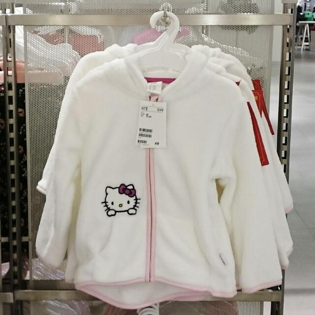 H&M 嬰幼兒 Hello Kitty 厚刷毛連帽外套