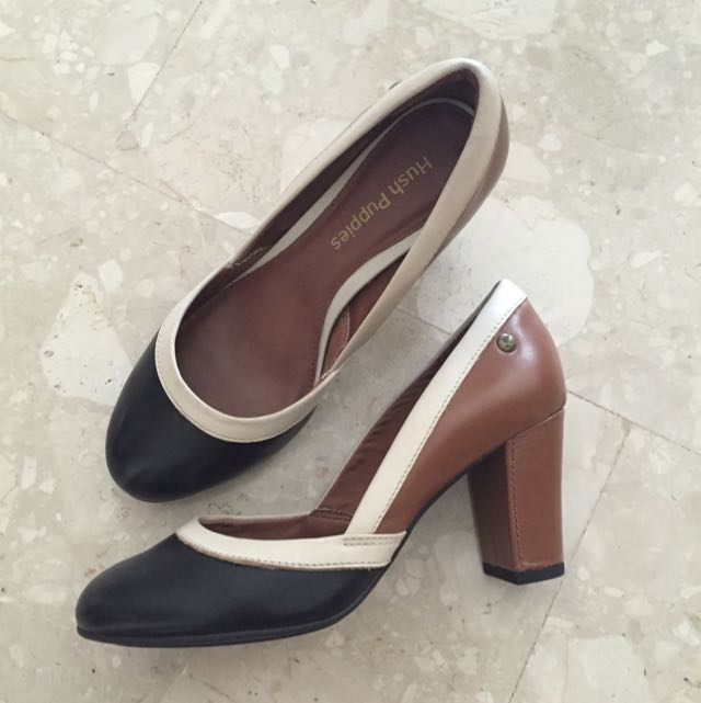 Hush Puppies Colour Block Heels Pumps Women S Fashion On Carousell