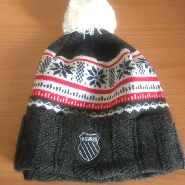 KSWISS深麻灰保暖毛帽