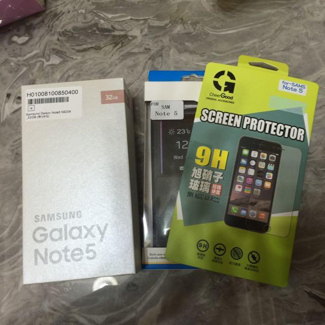 Note5 全新未拆封 保固一年!粉色