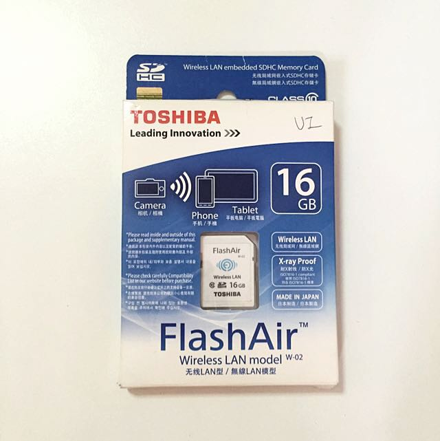 Toshiba FlashAir 16GB Wireless SD Card (Class 10)