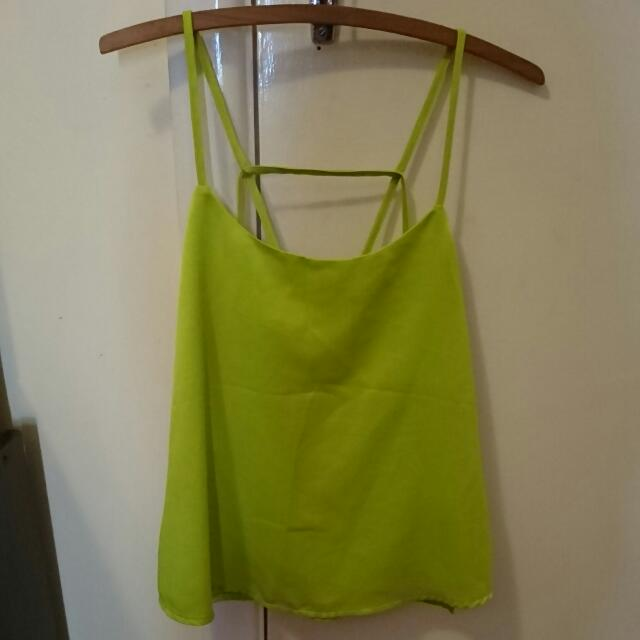 Valley Girl Green Top Size 8
