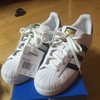 Adidas superstar金標23.5
