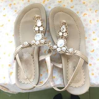 日本帶回 寶石 羅馬鞋 涼鞋
