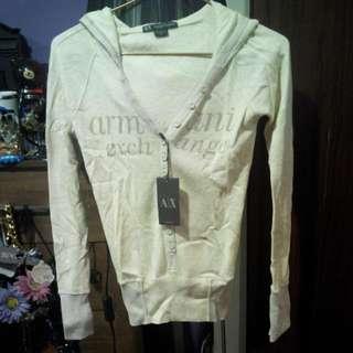 a/X Armani Exchange 白色針織衣