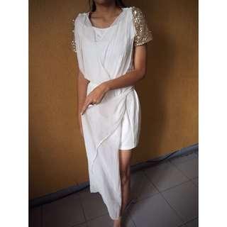 White Glam Dress