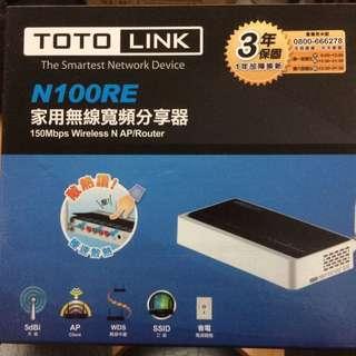 Toto link N100re 無線寬頻分享器