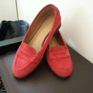 DAPHNE 紅色 樂福鞋