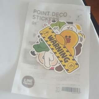OFFCIAL LINE FRIENDS LUGGAGE STICKERS