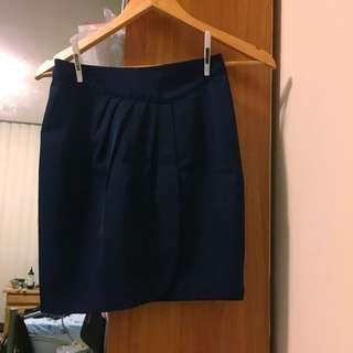 Bluejuice Navy Front Flap Mini Skirt