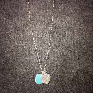 Tiffany & Co Blue And Silver Necklace