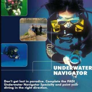 PADI UNDERWATER NAVIGATOR SPECIALITY DIVER COURSE 2 DAYS 2 NIGHTS