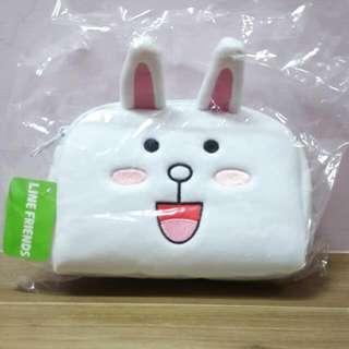 【全新正版】LINE 兔兔化妝(錢)包,另有熊大款。