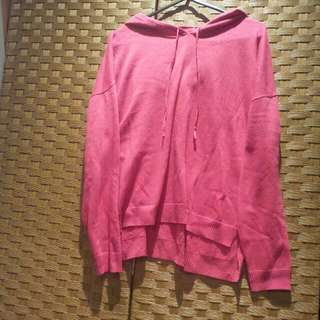 Oversized Pink Hoodie Size S/M
