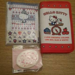 Kitty 商品出清: 信紙信封組,卡片夾, 化妝棉