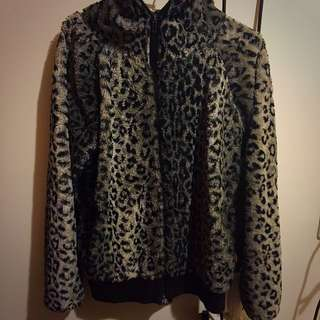 豹紋外套 毛毛外套 外套