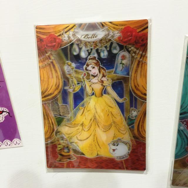 3D立體 美女與野獸明信片