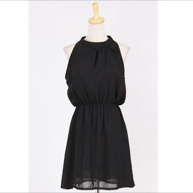 連身紗裙(黑)