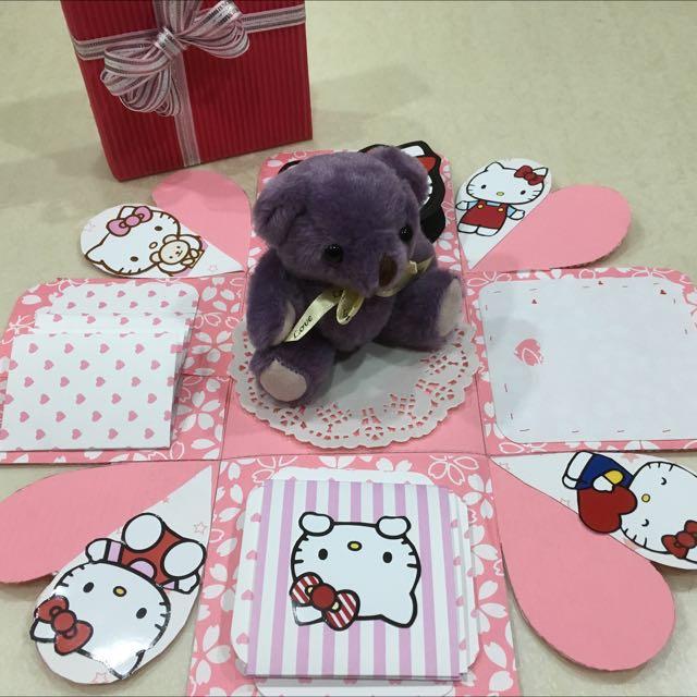 凱蒂貓小熊禮物盒