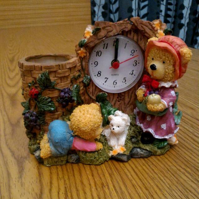 小熊筆筒鬧鐘