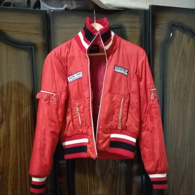 Benetton副牌紅色賽車外套