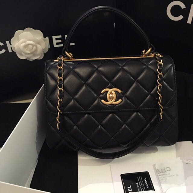 1e7647a89f2d9c Chanel Trendy CC Flap With GHW #21 Full Set With Receipt, Luxury on  Carousell