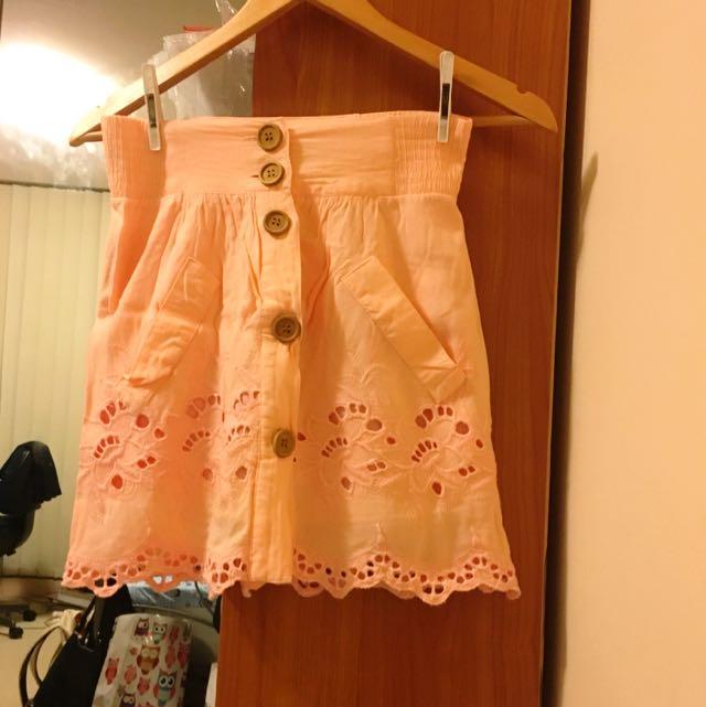 Dotti Pastel Orange Skirt