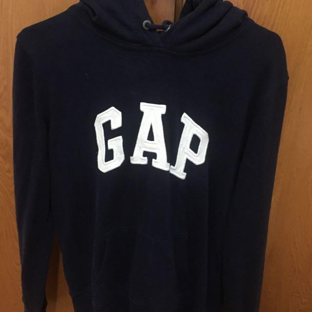 Gap 帽T S號 靛藍色噢不是黑色