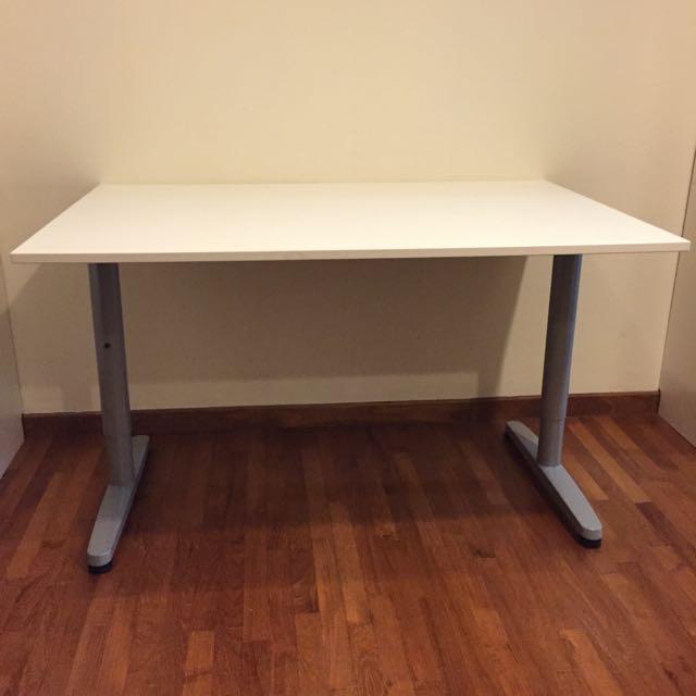 IKEA GALANT/BEKANT Desk 120x80, Furniture on Carousell