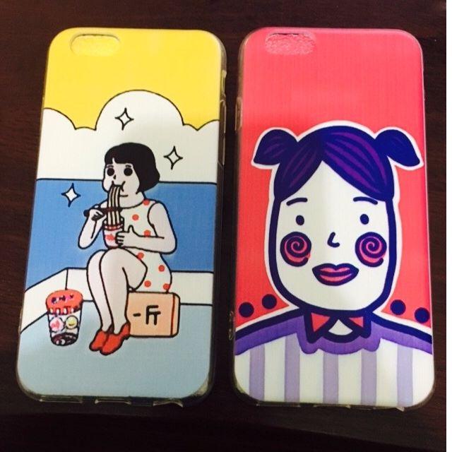 iphone創意可愛原宿搞怪全包邊軟殼(2款)