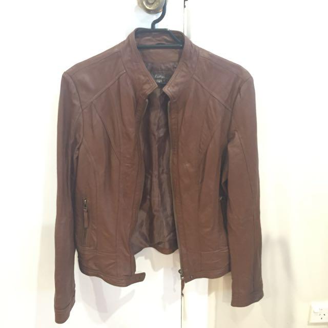 Katie's Brown Leather Jacket