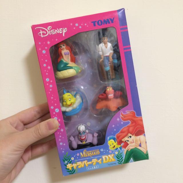 TOMY 迪士尼 小美人魚 軟膠 盒裝 卡通派對DX 愛麗兒 比目魚