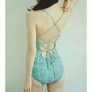 現貨M/L韓版 性感 顯瘦 連身款比基尼 泳衣