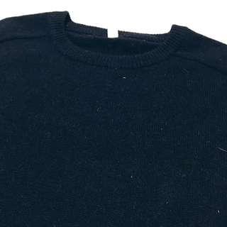 《gooddo•古著》清倉特價💫日本深藍圓領針織上衣