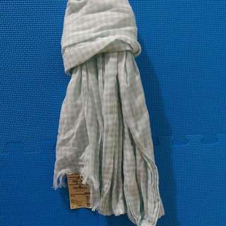 🚚 含運。Muji無印良品。有機棉花紋大披肩。