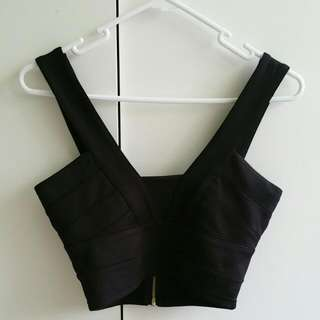 BRAND NEW Charlotte Black Crop Top S-Small