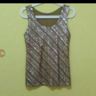 Sale 20% - Gold Sparkling Top