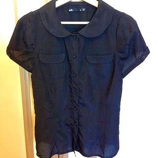 Black Collared Shirt Size 12