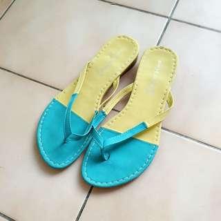 雙色平底拖鞋