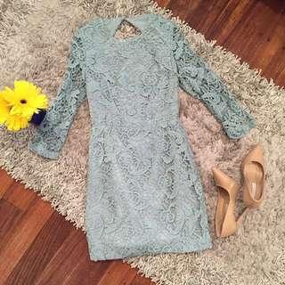 ASOS PETITE Crochet Shift dress - Size 8