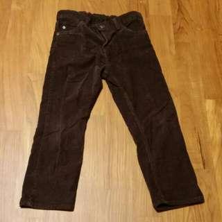 Mothercare Dark Brown Cuduroy Pants