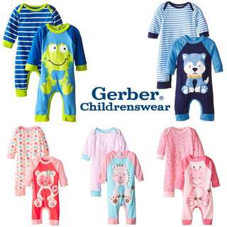 2 Piece Pack 100% Cotton - Available Sizes 6-9mths / 18mths [Baby Bundle]