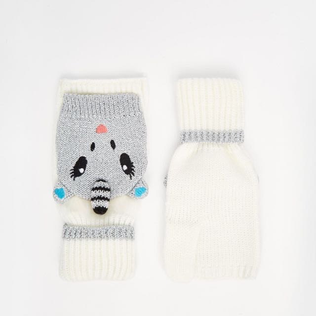 英國品牌創意造型針織手套