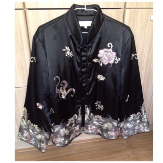 「媽媽的衣櫃」古著高貴旗袍外套