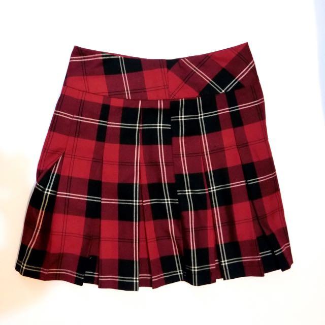 經典格紋蘇格蘭款摺裙