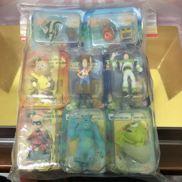 絕版扭蛋 Yujin 怪獸電力公司 玩具總動員 海底總動員 超人特攻隊 角色小吊卡  全套八款